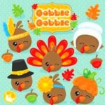 80% off purchase thanksgiving clipart commercial use, poultry clipart, kawaii clipart, fall vector graphics, thanksgiving digital image – cl1035 by prettygrafik design