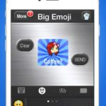 Big emoji keyboard – stickers for messages, texting & facebook around the application store