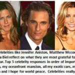 Celebrities thanksgiving messages
