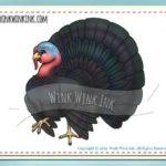 Digital stamp – tom poultry – thanksgiving digi with bonus colored images from winkwinkink on etsy studio