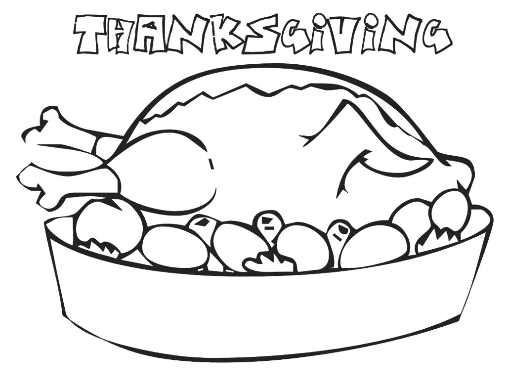 Free printable thanksgiving coloring pages for children having a ...