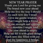 Prayer for brand new year benefits