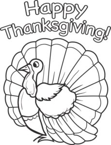 Thanksgiving Coloring Pages Printouts & Printables Turkey ... | 300x229