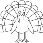 Simple poultry drawing how you can draw a stepstep easy vehicle throughout coloring pages thanksgiving – ijigen.me