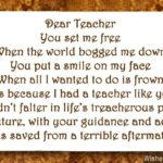 Thanks poems for teacher – wishesmessages.com