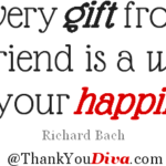 Thanks quotes for gifts, presents, treats & keepsakes