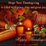 Thanksgiving hopes
