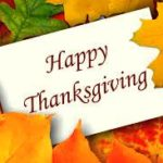 Thanksgiving message in the superintendent/principal