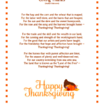 Thanksgiving poems for teachers
