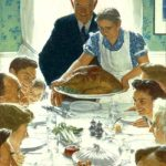 What's norman rockwell's thanksgiving picture really about?
