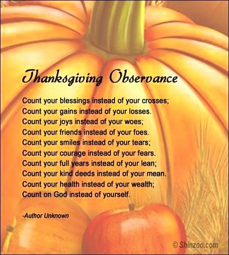 Thanksgiving poems 2016: 12 verses to convey our gratitude and make new recollections
