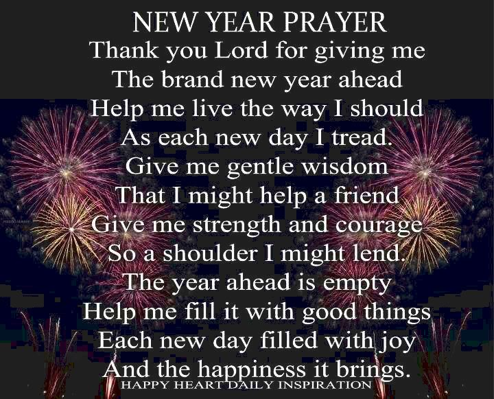 Prayer for brand new year benefits stuff in
