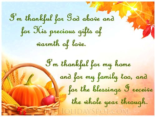 Thanksgiving prayer words spoken simply but