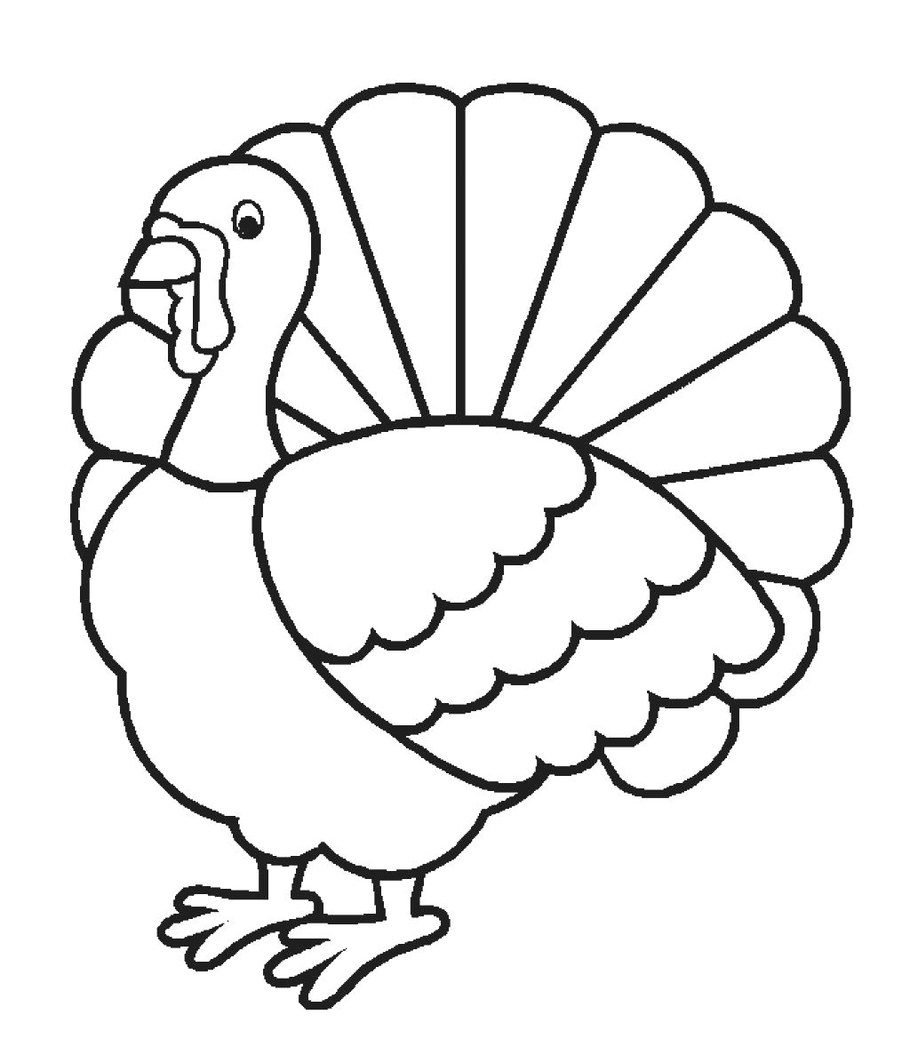 A Turkey For Thanksgiving Coloring Pages #2
