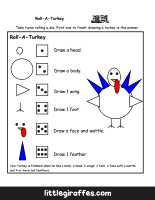 Roll A Turkey Printable Game