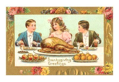 td-00075-dchildren-at-turkey-dinner-posters