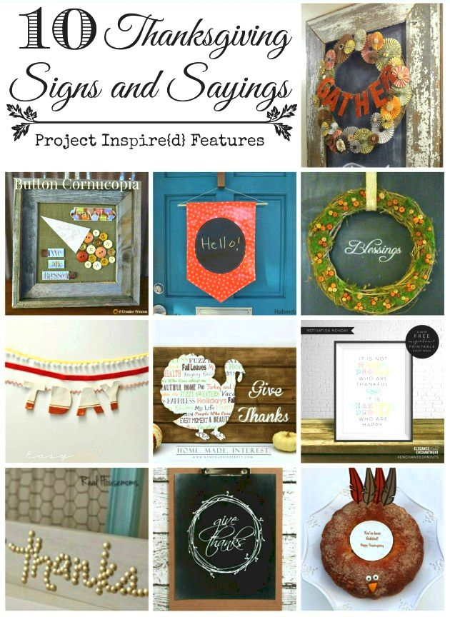 Ten Thanksgiving Sayings and Signs Featured on Project Inspire