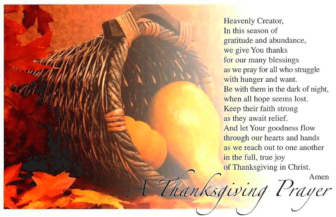 A thanksgiving prayer May we imitate your loving