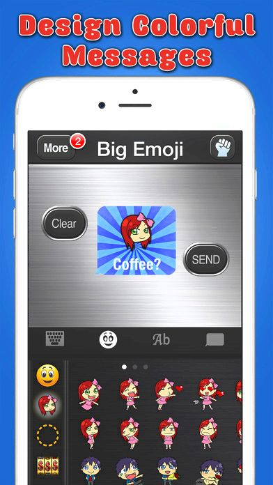 Big emoji keyboard - stickers for messages, texting & facebook around the application store from your keyboard into