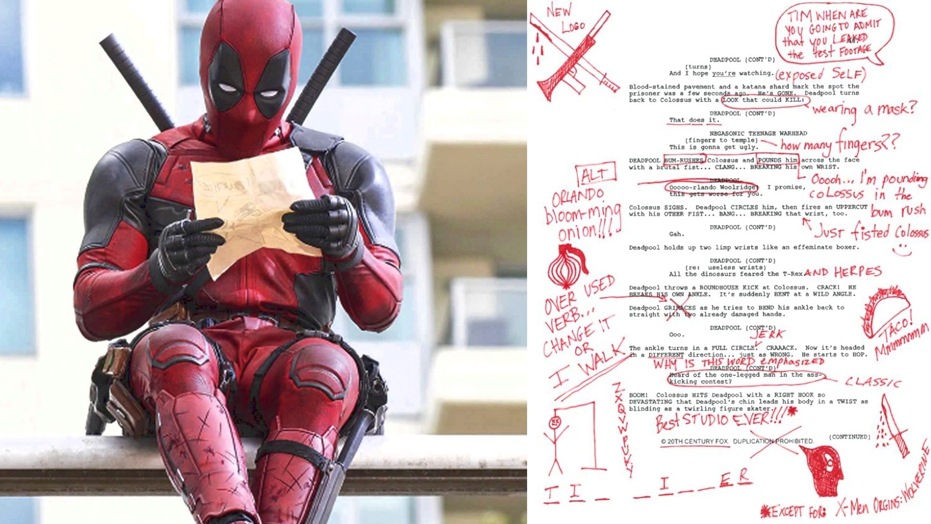 Read an Excerpt From the DEADPOOL Script With Deadpool