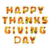 Happy Thanksgiving day Vector greeting card Stock Images