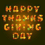Happy Thanksgiving day Vector greeting card Royalty Free Stock Photos