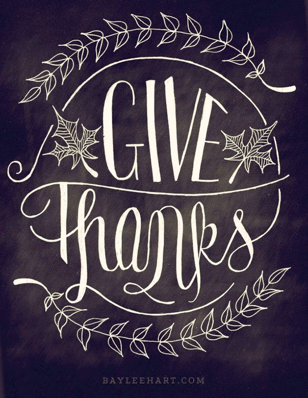 Give thanks thanksgiving typography
