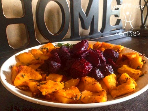 Roasted Beets and Pumpkin