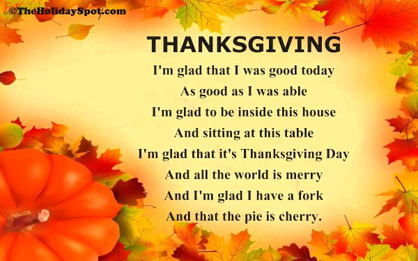 Thanksgiving poems we have