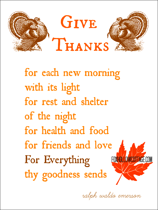 Thanksgiving poems Each day put in your