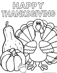 Thanksgiving Coloring Images