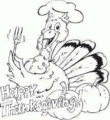 Thanksgiving Turkey Coloring Images