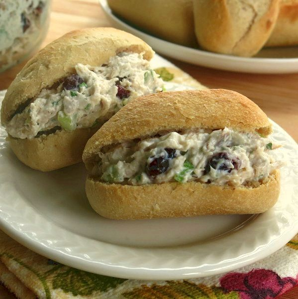 Ideas for Turkey Leftovers: Use turkey in this chicken salad recipe with cranberries and nuts