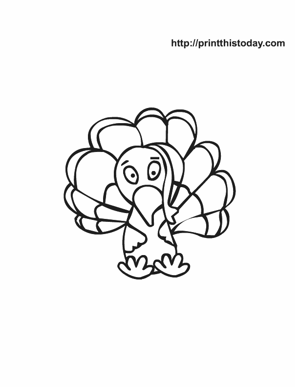 Free printable thanksgiving coloring Pages  Print This Today