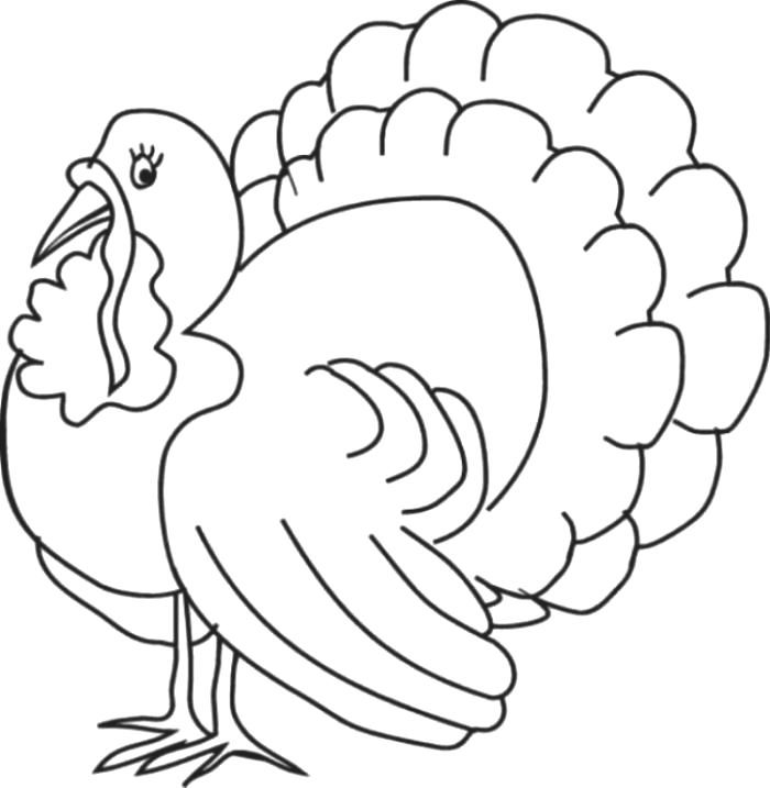 Thanksgiving Turkey Coloring Page 1