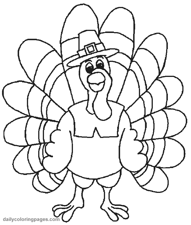 Thanksgiving Turkey Coloring Pages