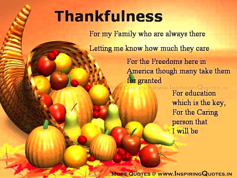 Thanksgiving quotes, thanksgiving day quotes, sayings, poems, verses all ages and all
