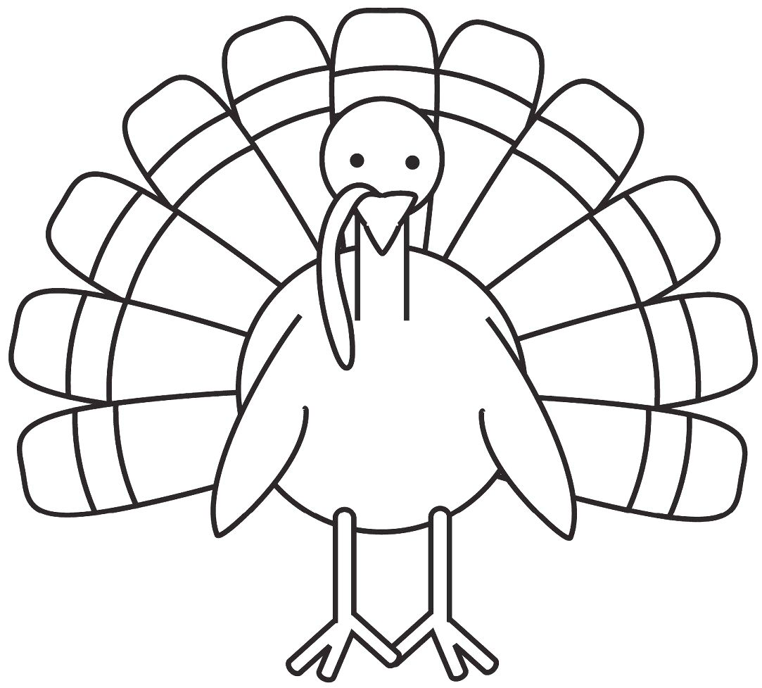 Printable Turkey for Kids