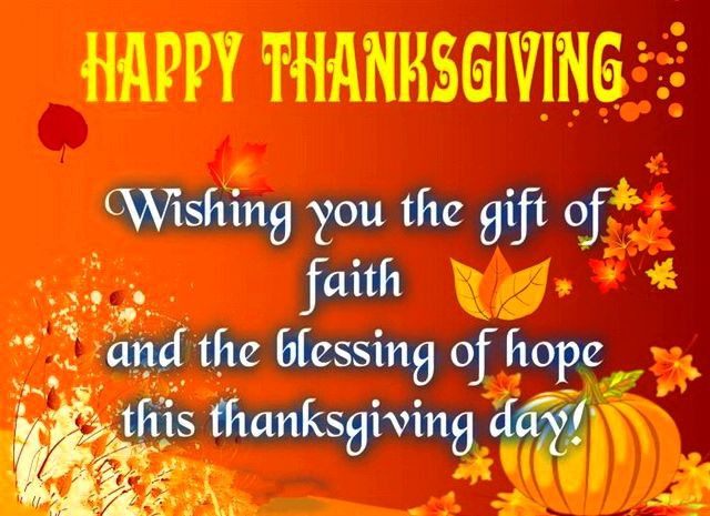 Thanksgiving wishes for you personally