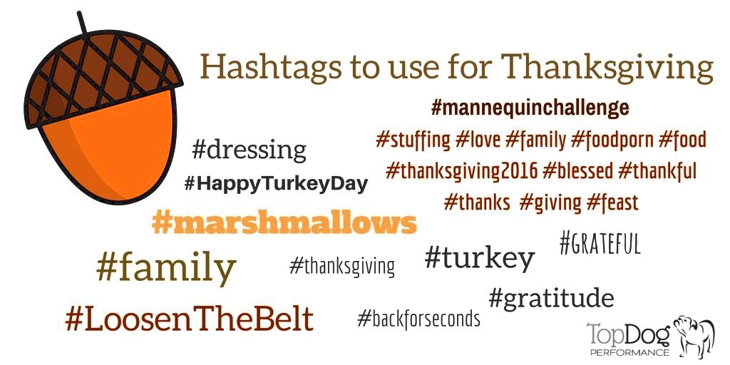 trending thanksgiving hashtags