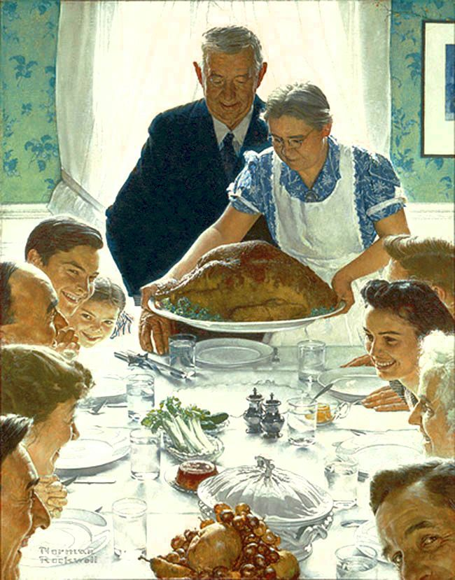 What's norman rockwell's thanksgiving picture really about? Promise of Independence